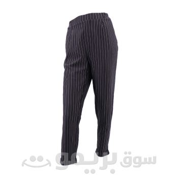 Black Pants with Thin White Stripes From OVS